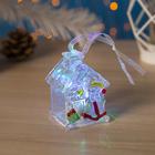 """Игрушка световая """"Домик деда Мороза"""" (батарейки в комплекте) 1 LED, RGB"""