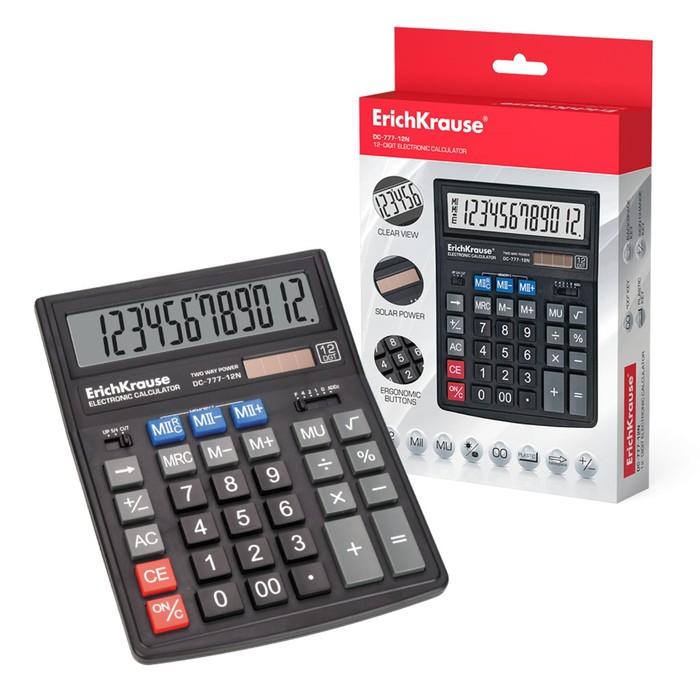 Калькулятор настольный 12-разрядный Erich Krause DC-777-12N - фото 408709756