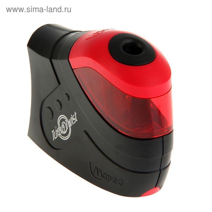 Точилка электрическая TURBO TWIST, черно-красный, 1 отверстие, пластик