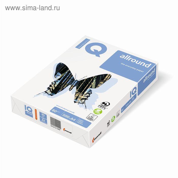 Бумага А4, 500 листов IQ Allround, белизна 162%, плотность 80г/м2