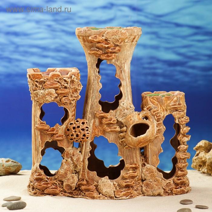 """Декорации для аквариума """"Замок с кувшином"""""""