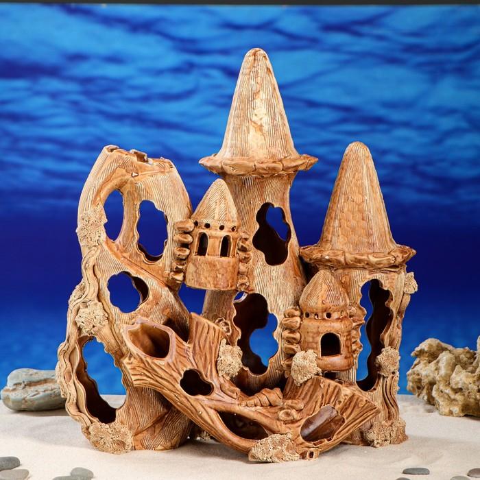 """Декорация для аквариума """"Замок с корягой"""", 16 х 32 х 38 см"""