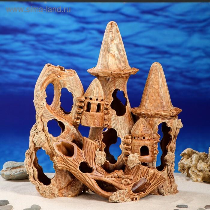 "Декорации для аквариума ""Замок с корягой"""