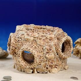 """Декорация для аквариума """"Гнездо"""" большое, 21 х 21 х 14 см"""