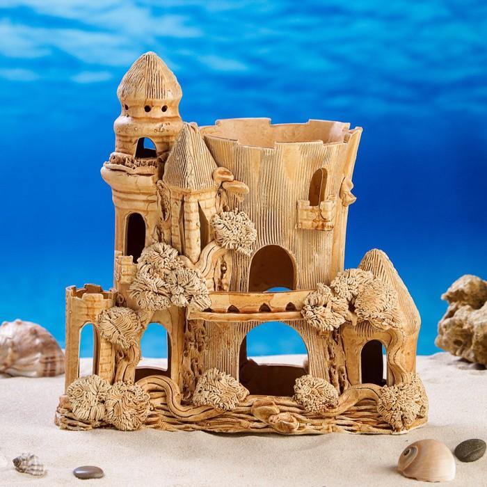 """Декорация для аквариума """"Замок Румба"""", 14 х 25 х 28 см, микс"""