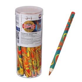 Карандаш с многоцветным грифелем 5.6 мм, Koh-I-Noor 3405 Magic, утолщённый, L=175 мм