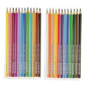 Карандаши 24 цвета, Koh-I-Noor 3134 TRIOCOLOR, картонная упаковка, европодвес