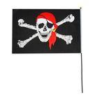 """Флаг """"Пират в бандане"""", длина палочки 89,5 см"""