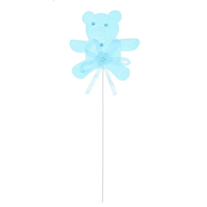 Топпер «Мишка», набор 6 шт., цвет голубой
