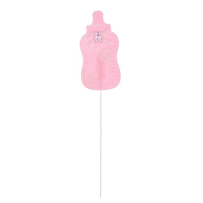 Топпер «Бутылочка», набор 6 шт., цвет розовый