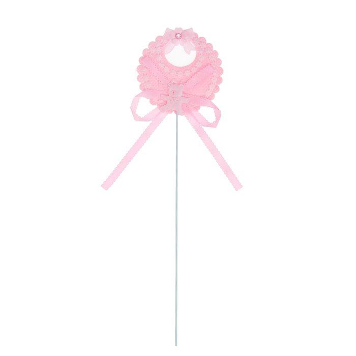 Топпер «Нагрудник», набор 6 шт., цвет розовый