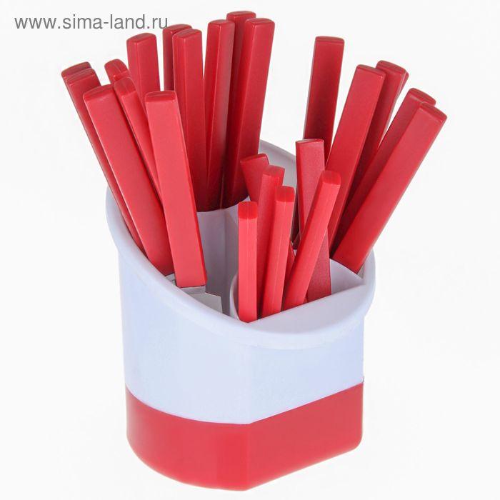 """Набор столовых приборов """"Шале"""", 24 предмета, красный"""