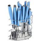 """Набор столовых приборов """"Вито"""", 24 предмета, цвет голубой"""
