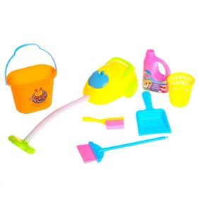 Набор игровой «Хозяюшка», 7 предметов: пылесос, ведро 2 шт., спрей, щётка, метёлка, совок Ош