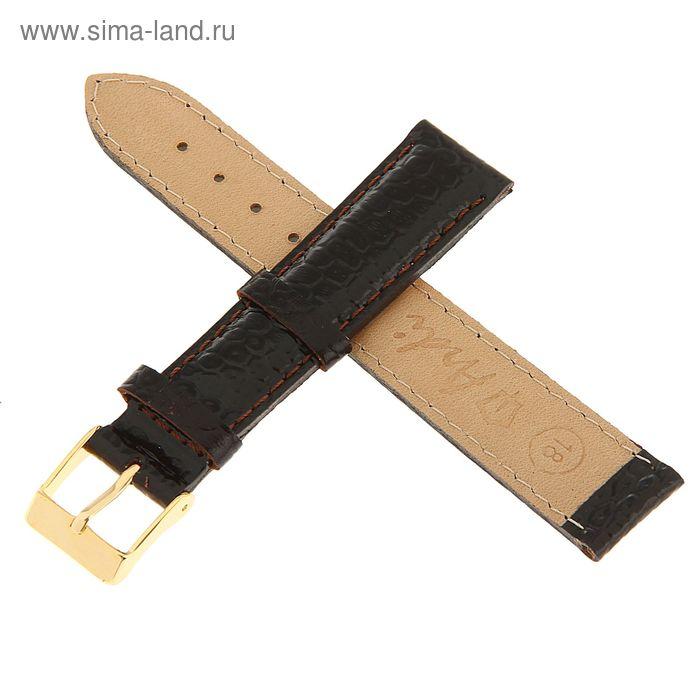 Ремень кожаный, присоед. р-р 18 мм, отделка питон