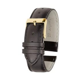 Ремень кожаный, присоед. р-р 18 мм, коричневый, удлиненный  микс Ош