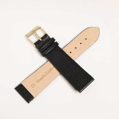 Ремешок для часов, мужской, 22 мм, черный