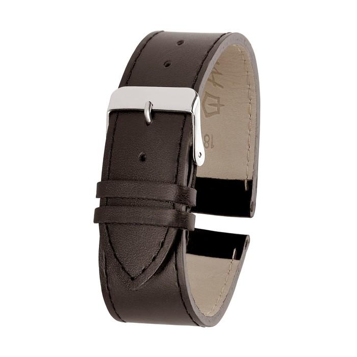Ремень кожаный, присоед. р-р 18 мм, коричневый  микс