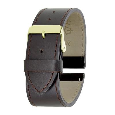Ремешок для часов, мужской, 24 мм, коричневый