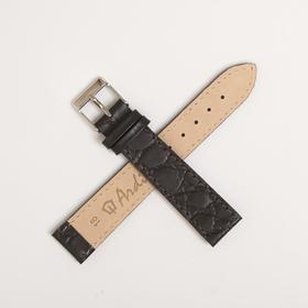 Ремень кожаный, присоед. р-р 18 мм, отделка пандора, темно-коричневый микс Ош
