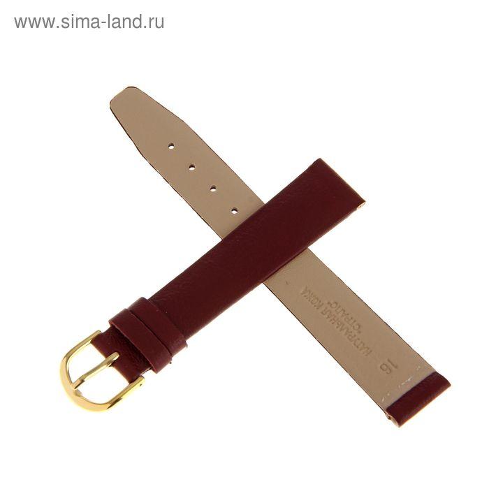 Ремень кожаный, присоед. р-р 16 мм, бордовый