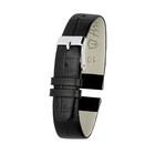 Ремешок для часов, женский, 10 мм, натуральная кожа, фактура крокодил, черный