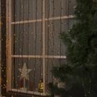 """Гирлянда """"Занавес"""" уличная, УМС, 2 х 3 м, 3W LED-760-220V, нить тёмная, свечение жёлтое"""