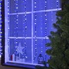 """Гирлянда """"Водопад"""" уличная, 2 х 1.5 м, LED-400-220V, 8 режимов, нить тёмная, свечение бело-синее"""