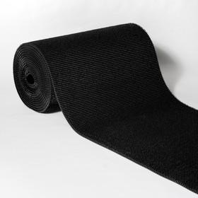 Покрытие ковровое щетинистое «Травка», 0,9×15 м, в рулоне, цвет чёрный
