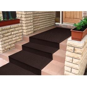 Покрытие ковровое щетинистое «Травка», 0,9×15 м, в рулоне, цвет тёмный шоколад