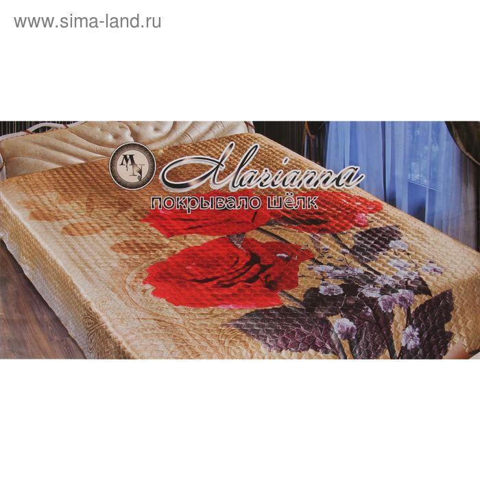 """Покрывало 3D Marianna """"Танго"""" евро, размер 200х220 см, искусственный шёлк"""