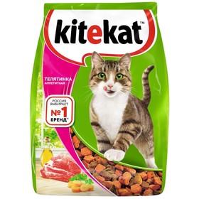 """Сухой корм KiteKat """"Аппетитная телятинка"""" для кошек, 1,9 кг"""