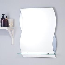 Зеркало «Элегия», настенное, с полочкой, 51×63 см