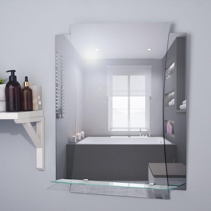"""Зеркало настенное """"Метиз"""" 53х68,7 см, с полочкой"""