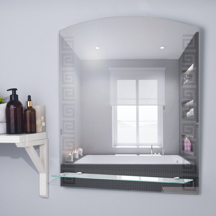 Зеркало «Гермес», настенное, с полочкой, 53×63 см - фото 1609969