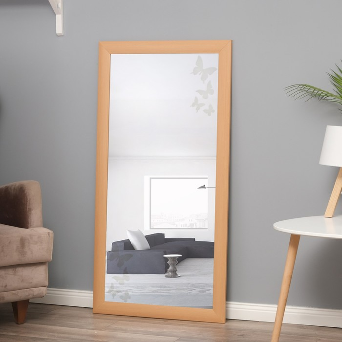 Зеркало «Нежность»,  настенное бук, 60×120 см, рама МДФ, 55 мм