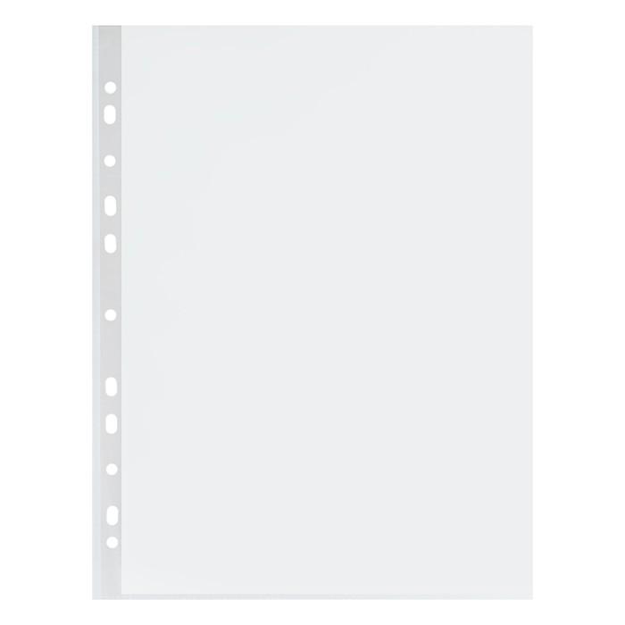 """Файл-вкладыш А4 """"Эконом"""" прозрачный, глянцевый полипропилен, упаковка 100 штук"""