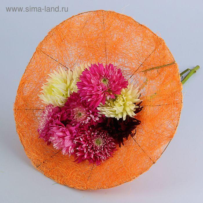 Каркас для букета 35 см, сизаль (гладкий), оранжевый