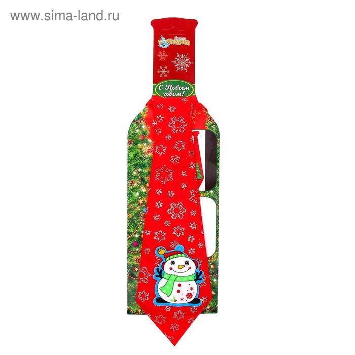 """Карнавальный галстук """"Снеговичок"""""""