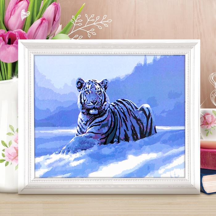 "Роспись по номерам без подрамника ""Тигр"", 40 х 30 см - фото 686979965"
