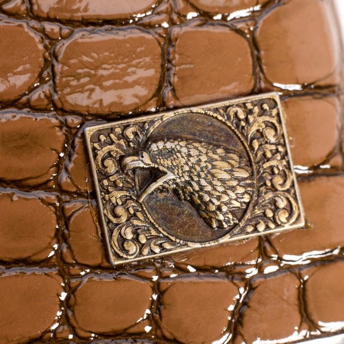"""Подарочный набор """"Двуглавый орёл"""" 6 в 1: фляжка 270 мл, 4 рюмки, воронка, 17х17 см"""