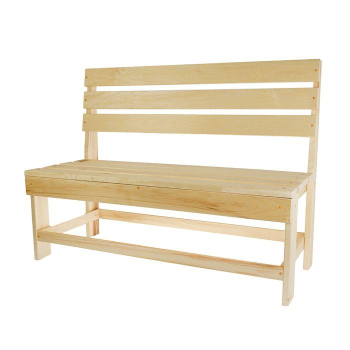 Скамейка без подлокотников 120х55х90 см