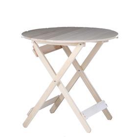 Стол складной, 80×80×75см, из липы, круглый