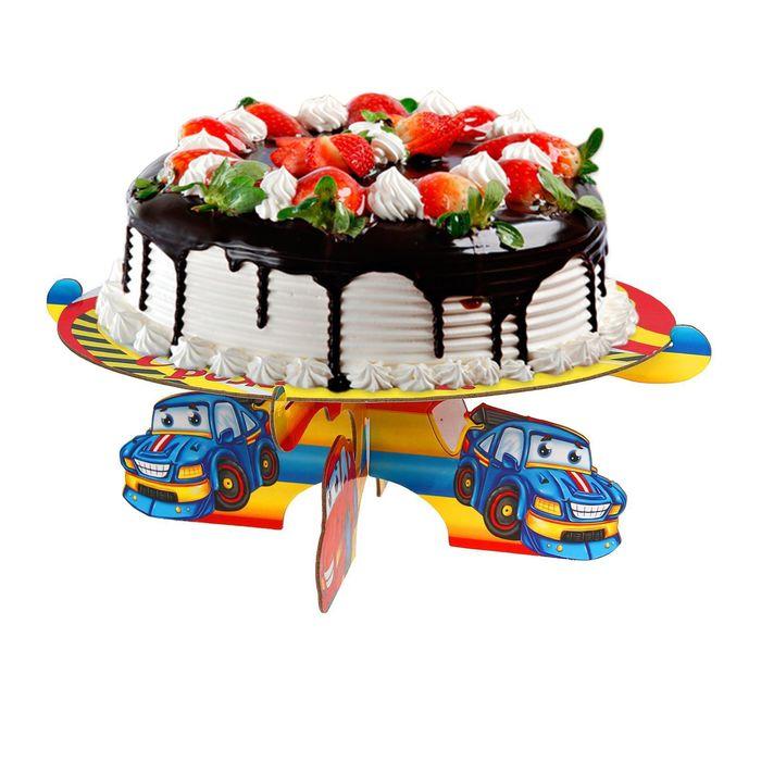 """Подставка для пирожных """"С Днём Рождения"""", тачки"""
