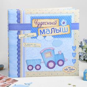 """Фотоальбом с наклейками в подарочной упаковке """"Чудесный малыш"""", 10 листов"""