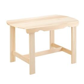 Стол, 120×63×73см, из липы, с закругленными краями