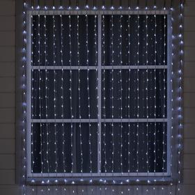 """Гирлянда """"Водопад"""" 2 х 6 м , IP44, УМС, прозрачная нить, 1500 LED, свечение белое, 8 режимов, 220 В"""