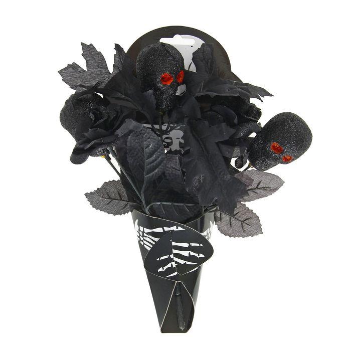 """Букет """"Скелет"""", цвет черный"""