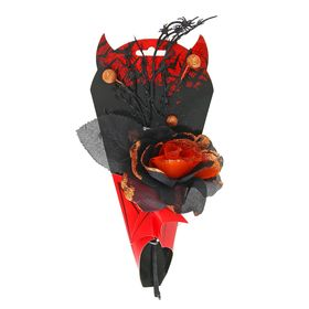 Букет «Вампир», с пауками, цвет оранжевый