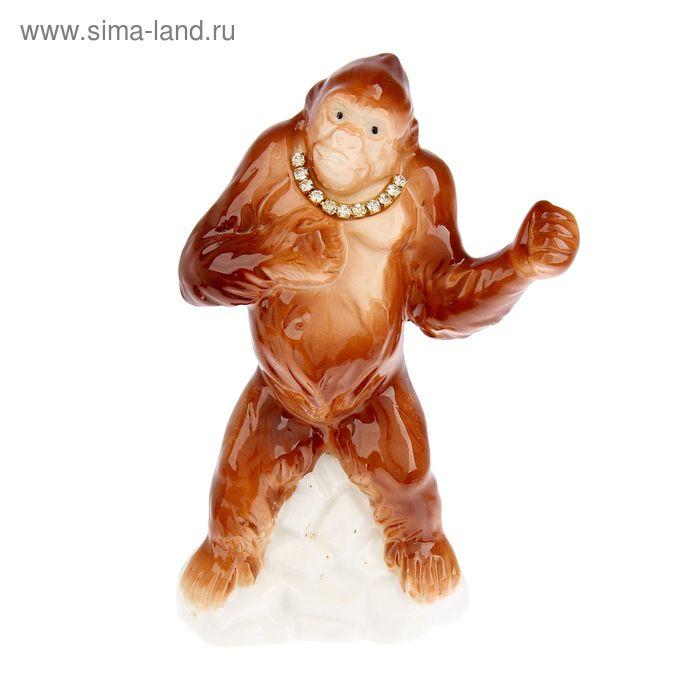 """Сувенир """"Шимпанзе боксер"""" со стразами"""
